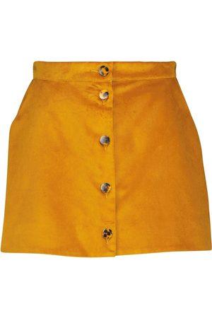 BLAZÉ MILANO Exclusive to Mytheresa – High-rise velvet miniskirt