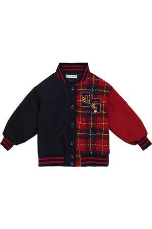 Dolce & Gabbana Checked wool-blend bomber jacket
