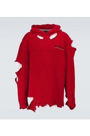 Balenciaga Destroyed hooded sweatshirt