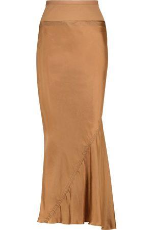 Rick Owens Satin maxi skirt