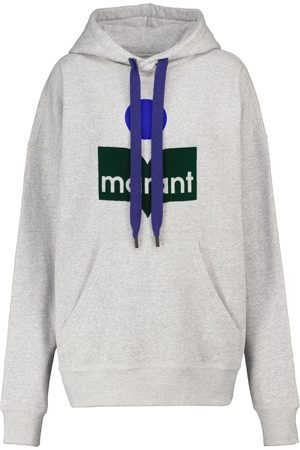 Isabel Marant Men Hoodies - Mansel cotton-blend jersey hoodie