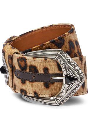 Etro Leopard-print velvet belt