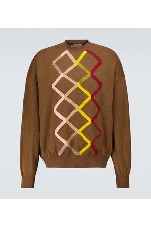 Acne Studios Zig-zag crewneck sweater