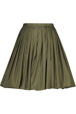 Alaïa Women Mini Skirts - Cotton-blend poplin miniskirt