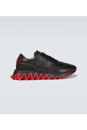 Christian Louboutin Men Sneakers - Loubishark leather sneakers