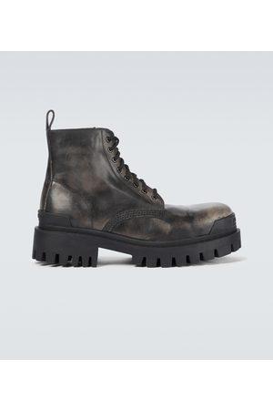 Balenciaga Men Boots - Strike leather boots