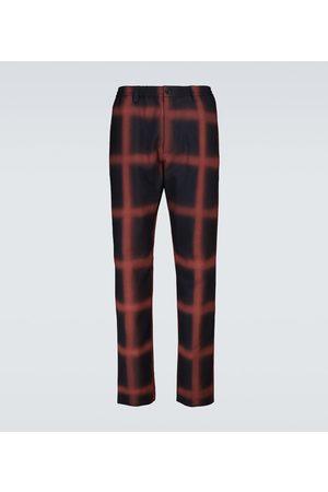 Marni Men Straight Leg Pants - Checked wool straight-leg pants