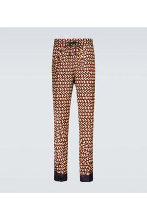 DRIES VAN NOTEN Men Pants - Printed drawstring pants