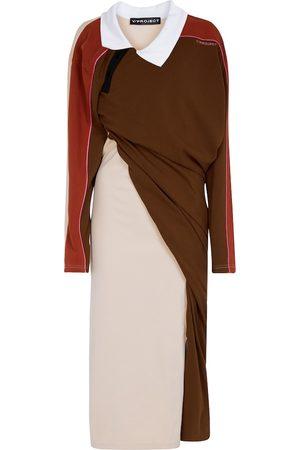 Y / PROJECT Asymmetric cotton midi dress