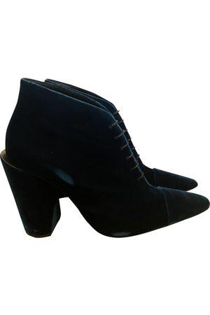 Jil Sander Velvet lace up boots