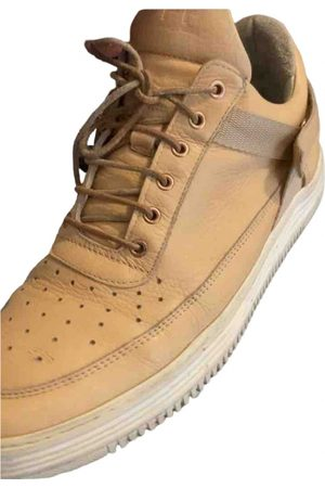 Filling pieces Leather high trainers