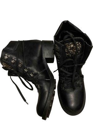 vic matiè Leather lace up boots