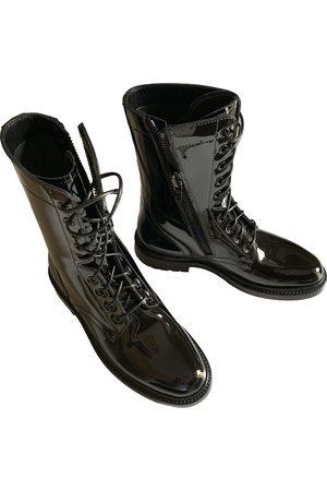 Céline Patent leather biker boots