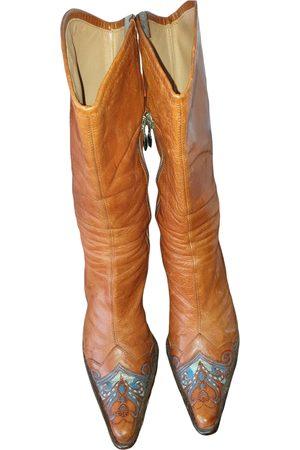 LELLA BALDI Leather western boots