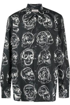 Alexander McQueen Cotton Skull-Print Shirt