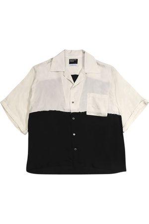 ENFANTS RICHES DEPRIMES Silk Chiffon Colorblock Shirt