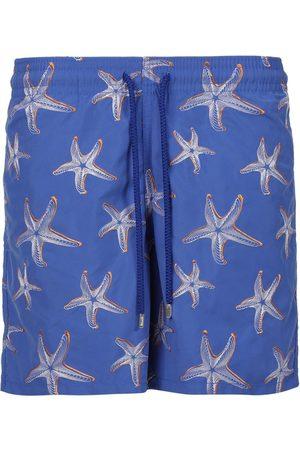 Vilebrequin Mistral Starfish Print Swim Trunks Blue