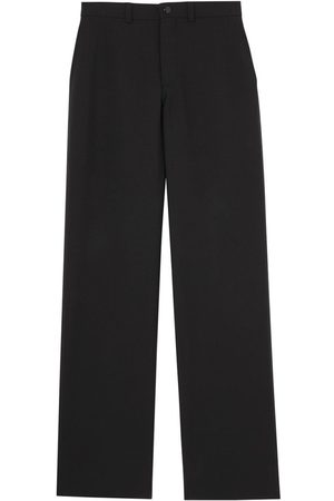 Burberry Cut Out Back Wool Wide Leg Trousers