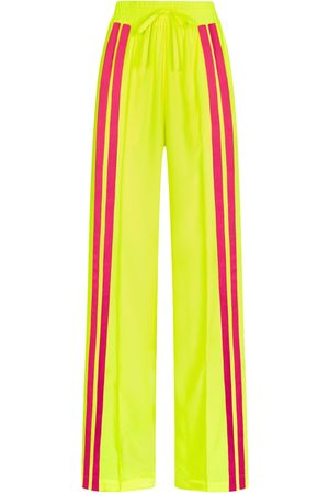 SERENA BUTE The Classic Wide Leg Jogger - Neon Yellow & Shocking Pink