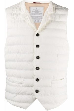 Brunello Cucinelli Button-Up Padded Down Gilet