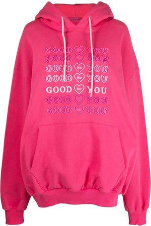 Ireneisgood Cotton Logo-Embroidered Hoodie