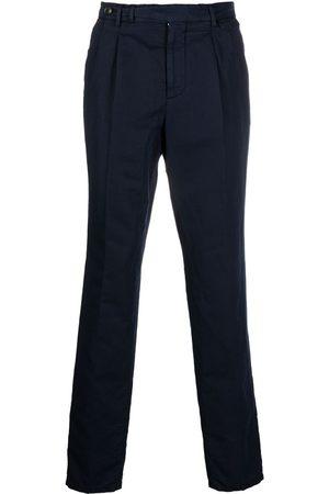 Brunello Cucinelli Navy Slim Fit Chino Pants