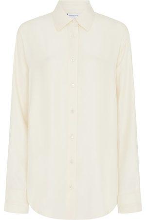 SERENA BUTE The Oversized Shirt - Sandwashed Blush Matte Silk