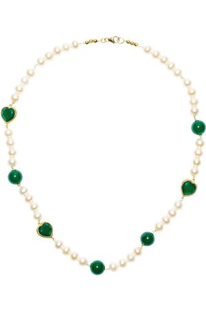 Veert Onyx Freshwater Pearl Necklace