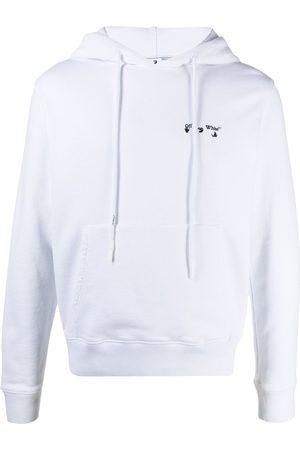 OFF-WHITE Ow Logo Slim Hoodie Black