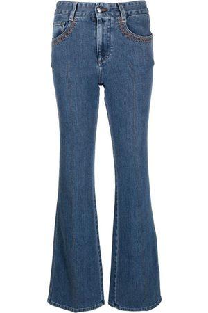 Chloé Moonlight Cotton-Blend Flared Denim Jeans