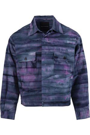 ROCHAMBEAU X Nick Farhi Cropped Oversized Leather Jacket, Bathers Purple