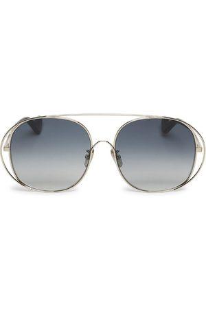 Loewe Oversized Round Metal Sunglasses Light