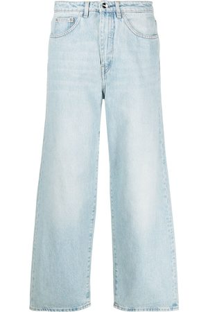 Totême Light- Cotton Mid-Rise Flared Jeans