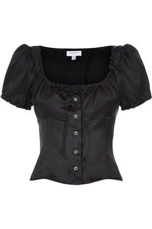SERENA BUTE The Bodice Top - Black Silk
