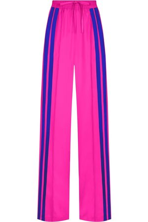 SERENA BUTE The Classic Wide Leg Jogger - Shocking Pink & Sapphire Blue