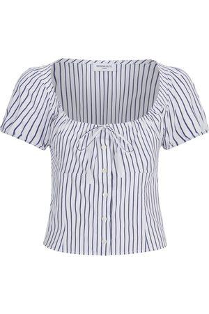 SERENA BUTE The Bodice Top - Navy & White Stripe Cotton