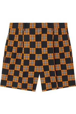 Burberry Checkered Tailored Shorts