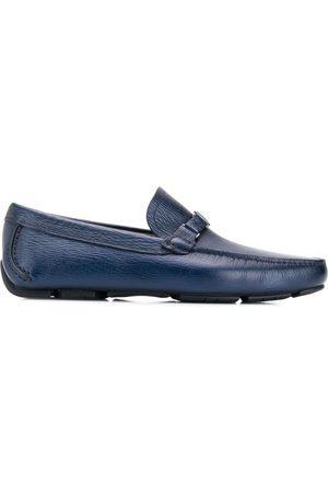 Salvatore Ferragamo Navy Antigua Driver Loafers
