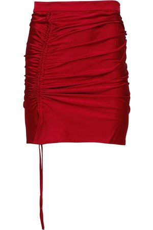 GCDS Coulisse Mini Skirt Cherry Red