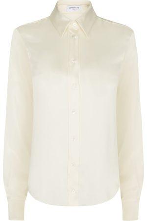 SERENA BUTE The Slim Shirt - Blush Shiny Silk