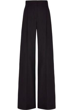 SERENA BUTE The Serena Wide Leg Trouser - Black Silk