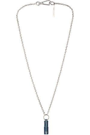 Marine Serre Silver-Tone Branded Flashlight Necklace