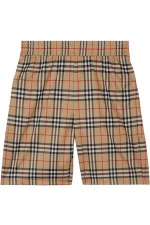 Burberry Check-Print Shorts