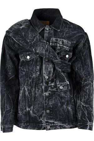 MARTINE ROSE Ferrero Acid Wash Denim Jacket, Black