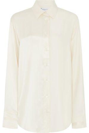 SERENA BUTE The Oversized Shirt - Blush Matte & Shiny Silk