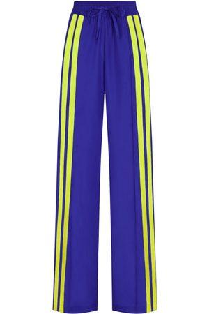 SERENA BUTE The Classic Wide Leg Jogger - Sapphire Blue & Neon Yellow
