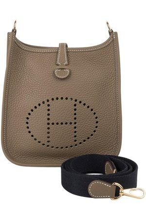 Hermès Evelyne Tpm Etoupe Clemence Navy Strap Hardware New W/Box