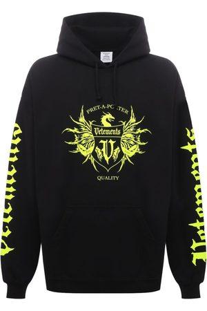 Vetements Label Logo Hoodie And Neon Yellow