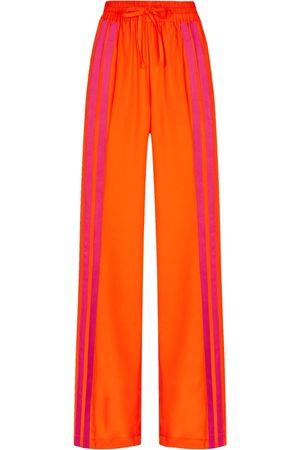 SERENA BUTE The Classic Wide Leg Jogger - Jaffa Orange & Shocking Pink