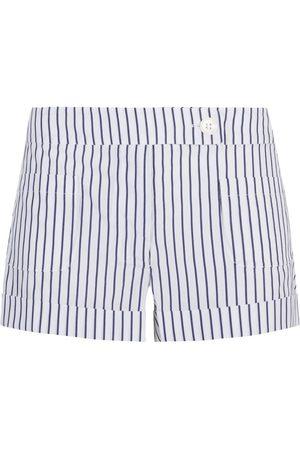 SERENA BUTE The Tailored Shorts - Blue & White Stripe Cotton